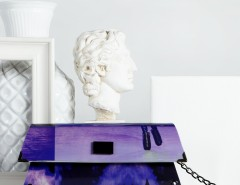 Handheld Clutch - Purple - 80's Carnet de Mode bester Fashion-Online-Shop