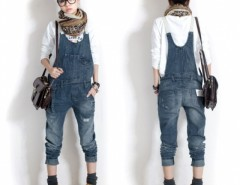 Hot New Women Washed Casual Jumpsuit Romper Overall Jean Frayed Denim Pant EN24H Cndirect bester Fashion-Online-Shop China