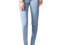 Jollychic Brief High Waist Solid Color Skinny Jeans Jollychic.com bester Fashion-Online-Shop