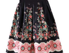 Jollychic Elastic Waist Floral Pattern Great Bubble Skirt Jollychic.com bester Fashion-Online-Shop
