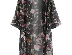 Jollychic Floral Chiffon Half Sleeve Womens Sun Proof Coat Jollychic.com bester Fashion-Online-Shop