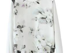 Jollychic Floral Pattern O-Neck Long Sleeve Sweatshirt Jollychic.com bester Fashion-Online-Shop