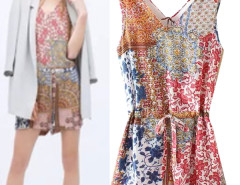 Jollychic Floral Print V-Neck Hollow Back Short Jumpsuits Jollychic.com bester Fashion-Online-Shop