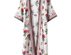 Jollychic Long Cut Floral Print Thin Loose Outwear Jollychic.com bester Fashion-Online-Shop