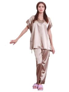 Jollychic Loose V-neck Geometrical Short Sleeve Sleepwear Set Jollychic.com bester Fashion-Online-Shop