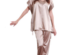 Jollychic Loose V-neck Geometrical Short Sleeve Sleepwear Set Jollychic.com bester Fashion-Online-Shop