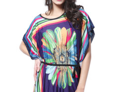 Jollychic Over Size Printed Dress For Women With Belt Jollychic.com bester Fashion-Online-Shop