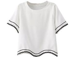 Jollychic Print Pullover Short Sleeve O-Neck T-Shirt Jollychic.com bester Fashion-Online-Shop