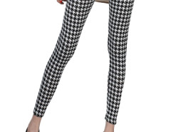 Jollychic Retro Fashion Elastic Plover Plaid Girls Leggings Jollychic.com bester Fashion-Online-Shop