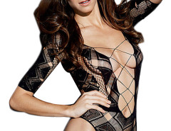 Jollychic Sexy Hollow Style Black V-Neck Lingerie Jollychic.com bester Fashion-Online-Shop
