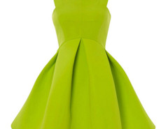 Jollychic Solid Color Sleeveless O-Neck Slim Bubble Skirt Jollychic.com bester Fashion-Online-Shop