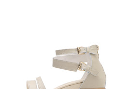 Jollychic Solid Double Buckle Women Casual Sandals Jollychic.com bester Fashion-Online-Shop
