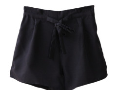 Jollychic Solid High Waist Self-Tie Wide Leg Shorts Jollychic.com bester Fashion-Online-Shop