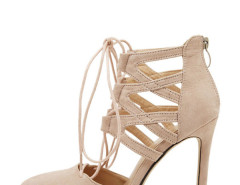 Jollychic Strappy Solid Color Stiletto Pumps Jollychic.com bester Fashion-Online-Shop