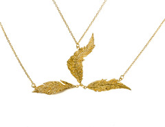 Priestess Feather Headpiece. Yellow Gold. MrKate.com bester Fashion-Online-Shop aus den USA
