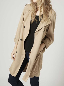 Khaki Lapel Double Breasted Trench Coat Choies.com bester Fashion-Online-Shop Großbritannien Europa