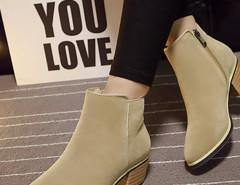 Khaki Suedette Pointed Zipper Side Ankle Boots Choies.com bester Fashion-Online-Shop Großbritannien Europa