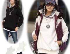Korea Women Long Sleeve Hoodie Sweatshirt Casual Outerwear Coat 3Colors Cndirect bester Fashion-Online-Shop China