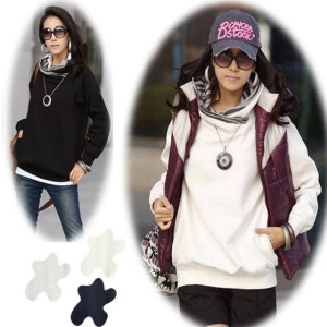 Korea Women Long Sleeve Hoodie Sweatshirt Casual Outerwear Coat 3Colors Cndirect bester Fashion-Online-Shop China
