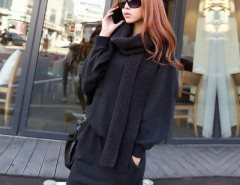 Korea Women Loose Hooded Long Sleeve Pullover Dress Cndirect bester Fashion-Online-Shop China