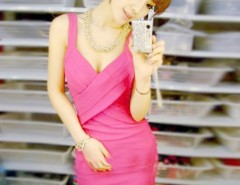 Korea Women Sexy Slim Sleeveless Cross Strap Party Evening Cocktail Vest Dress Cndirect bester Fashion-Online-Shop China