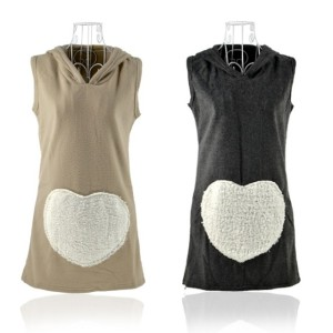 Korea Women Tops Woolen Hoodie Winter Waistcoat Vest 2 Colors Cndirect bester Fashion-Online-Shop China