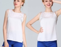 Korea Women's Sleeveless Chiffon Shirt Tops Blouse Tank Cndirect bester Fashion-Online-Shop China
