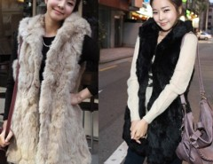 Korean Style Hooded Coats Sleeveless Vest Women's Outerwear Black/Apricot Cndirect bester Fashion-Online-Shop China
