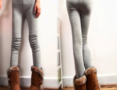 Korean Women's Ladies The knee Lace decoration Leggings Tight Pants Cndirect bester Fashion-Online-Shop China