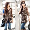 Korean Women's Leopard Half Sleeve Long Shirt Blouse Cndirect bester Fashion-Online-Shop China