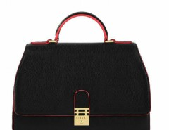 Large Handheld Bag with Push Lock - Vienna Carnet de Mode bester Fashion-Online-Shop