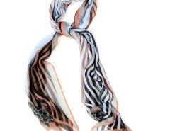 Large Scarf - Rayons - Blue Carnet de Mode bester Fashion-Online-Shop