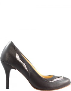 Leather Pumps with Metal Mesh Details - Yana Carnet de Mode bester Fashion-Online-Shop