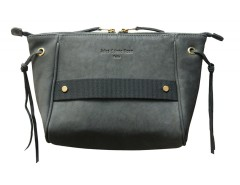 Leather clutch - Papillon Bouche Cousue - gray Carnet de Mode bester Fashion-Online-Shop