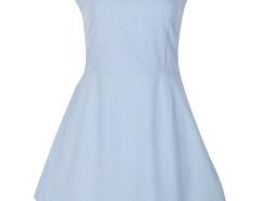 Light Blue Cut Away Tie Back Sleeveless Mini Dress Choies.com bester Fashion-Online-Shop Großbritannien Europa