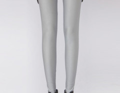 Light Gray High Waist Stretchy Leggings Choies.com bester Fashion-Online-Shop Großbritannien Europa