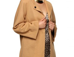 Long Beige Jacket Carnet de Mode bester Fashion-Online-Shop