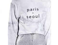 Marble printed sweatshirt Paris-Seoul Carnet de Mode bester Fashion-Online-Shop