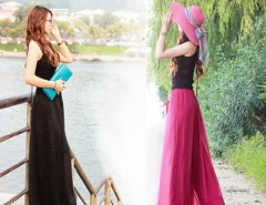 Maxi Long Bohemian Restore Women Shinning Chiffon Long Pants With Belt Cndirect bester Fashion-Online-Shop China