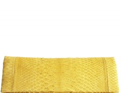 Mimosa Python Leather Clutch - Essentiel Carnet de Mode bester Fashion-Online-Shop