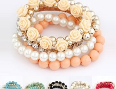 Mix Flower Beads Stretch Bracelet Temperament Cndirect bester Fashion-Online-Shop China
