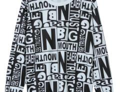 Monochrome Letter Print Long Sleeve Sweatshirt Choies.com bester Fashion-Online-Shop Großbritannien Europa