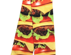 Multicolor 3D Massive Hamburger Print Ankle Socks Choies.com bester Fashion-Online-Shop Großbritannien Europa