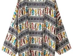 Multicolor Cat Print Lace Crochet Panel Kimono Choies.com bester Fashion-Online-Shop Großbritannien Europa
