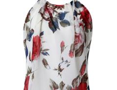 Multicolor Chain Halter Floral Print Cut Out Back Vest Choies.com bester Fashion-Online-Shop Großbritannien Europa