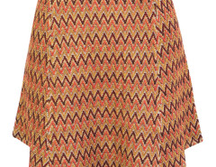 Multicolor Chevron Jacquard High Waist Knit Skirt Choies.com bester Fashion-Online-Shop Großbritannien Europa
