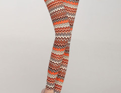 Multicolor Chevron Pattern High Waist Leggings Choies.com bester Fashion-Online-Shop Großbritannien Europa