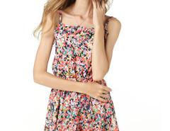 Multicolor Dot Painting Spaghetti Strap Chiffon Pleat Dress Choies.com bester Fashion-Online-Shop Großbritannien Europa