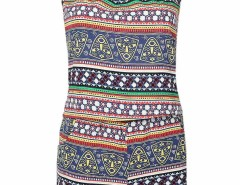 Multicolor Mixed Folk Print Cami And Shorts Choies.com bester Fashion-Online-Shop Großbritannien Europa