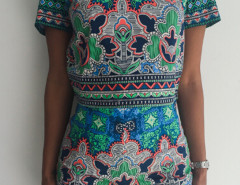 Multicolor Printed Zip Back Top And High Waist Shorts Choies.com bester Fashion-Online-Shop Großbritannien Europa